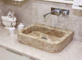 Corner Marble Washbasins